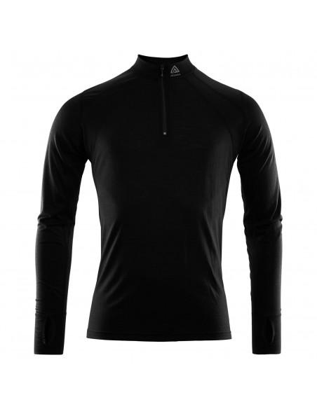 Aclima LightWool Zip Shirt, svart